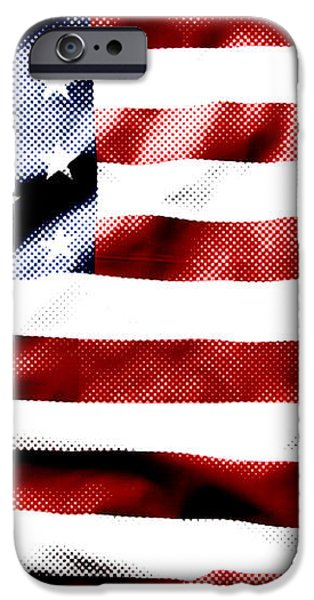 Flag iPhone Case by Les Cunliffe