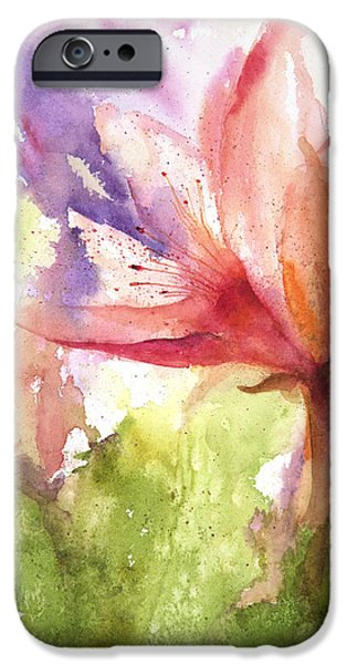 Loose Style Paintings iPhone Cases - Flame Lily iPhone Case by Lynne Furrer