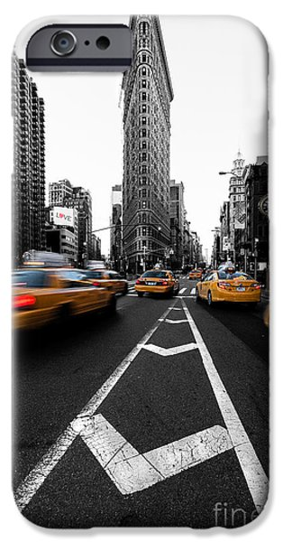 Manhattan iPhone Cases - Flatiron Building NYC iPhone Case by John Farnan