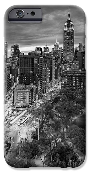 Empire State Building iPhone Cases - Flatiron District Birds Eye View iPhone Case by Susan Candelario