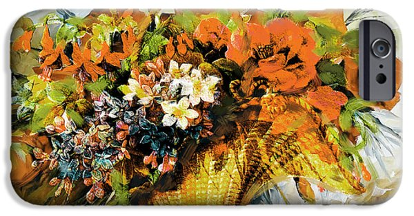 Flowers On Canvas Art iPhone Cases - Floral 10 iPhone Case by Mahnoor Shah