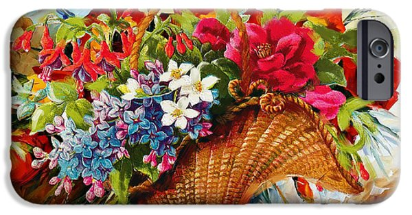 Flowers On Canvas Art iPhone Cases - Floral 11 iPhone Case by Mahnoor Shah