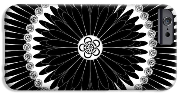 Ink Drawing Drawings iPhone Cases - Floral Ornament iPhone Case by Frank Tschakert