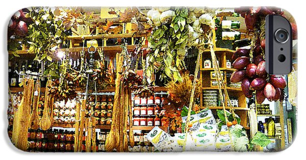Jam Digital iPhone Cases - Florence Market iPhone Case by Irina Sztukowski