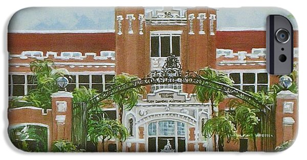 Baseball Stadiums Paintings iPhone Cases - Florida State University iPhone Case by Nancy Raborn