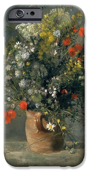 Recently Sold -  - Flower Of Life iPhone Cases - Flowers in a Vase iPhone Case by Pierre-Auguste Renoir