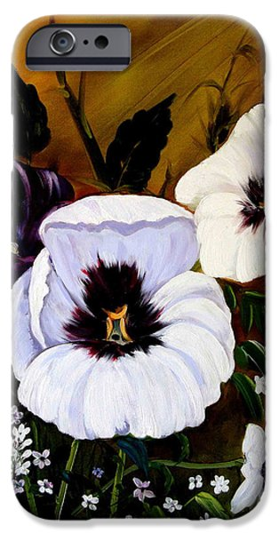 Bob Ross Paintings iPhone Cases - Flowers iPhone Case by Shirwan Ahmed