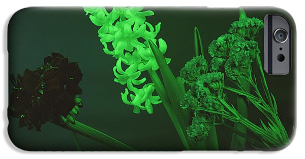 Absorb iPhone Cases - Flowers Under Green Light iPhone Case by Andrew Lambert Photography