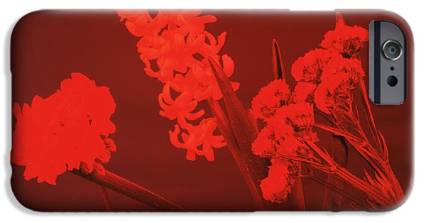 Absorb iPhone Cases - Flowers Under Red Light iPhone Case by Andrew Lambert Photography