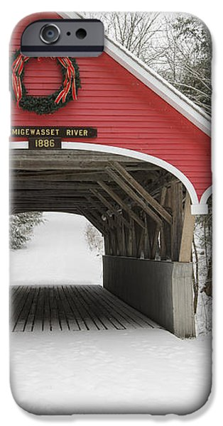 Flume Covered Bridge - White Mountains New Hampshire USA iPhone Case by Erin Paul Donovan