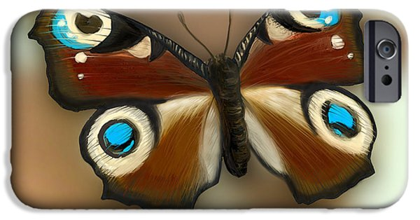 Night Light iPhone Cases - Fly butterfly iPhone Case by Gina Dsgn
