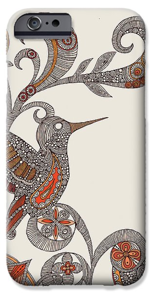 Floral Digital Art Digital Art Photographs iPhone Cases - Flying iPhone Case by Valentina Ramos