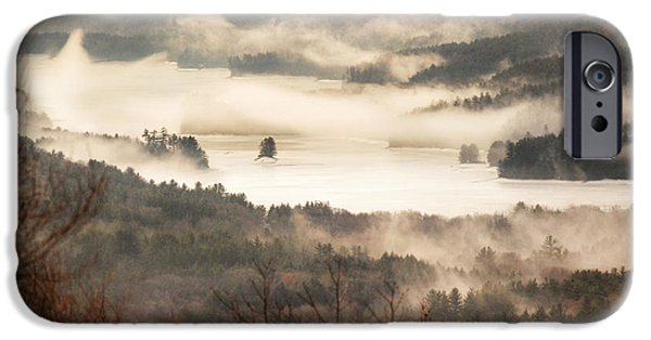 Reservoir iPhone Cases - Foggy Reservoir iPhone Case by HD Connelly