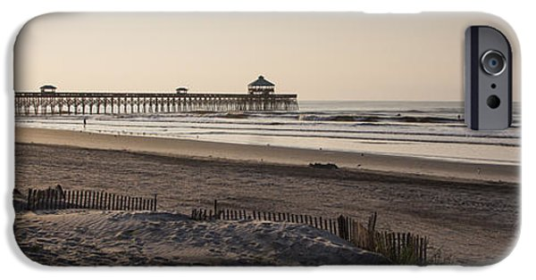 Morning iPhone Cases - Folly Beach Morning iPhone Case by Dustin K Ryan