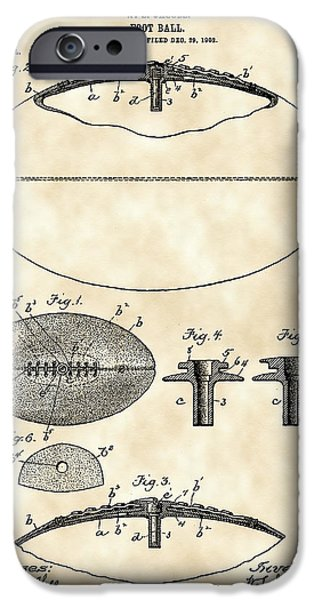 Pro Football iPhone Cases - Football Patent 1902 - Vintage iPhone Case by Stephen Younts