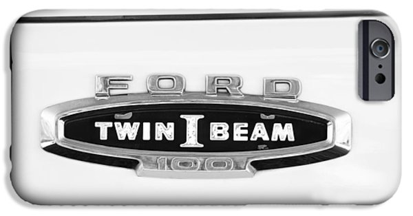 Ford Truck iPhone Cases - Ford 100 Twin I Beam Truck Emblem iPhone Case by Jill Reger