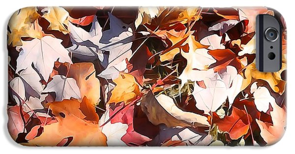 Change Paintings iPhone Cases - Forest Floor In Autumn iPhone Case by Dan Sproul
