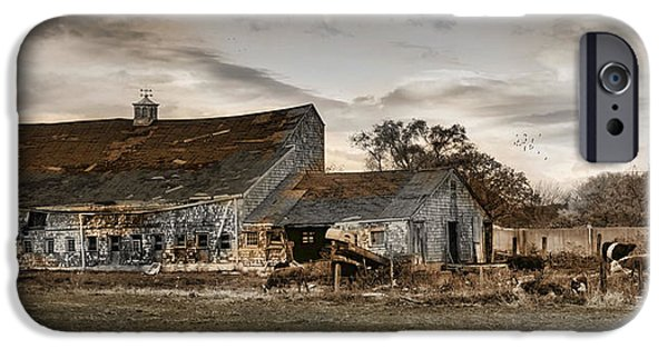 Old Barns iPhone Cases - Forlorn iPhone Case by Robin-lee Vieira