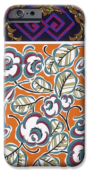 Patterns Paintings iPhone Cases - Formes et Couleurs iPhone Case by Auguste H Thomas