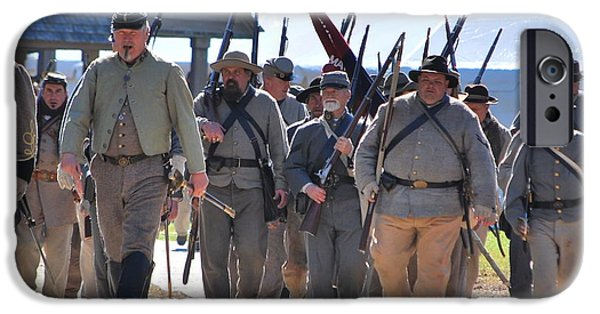 Confederate Hospital iPhone Cases - Confederate Army At Fort Anderson  iPhone Case by Jocelyn Stephenson