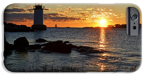 Oxford. Oxford Ma. Massachusetts iPhone Cases - Fort Pickering Lighthouse Winter Island Salem MA Sunrise iPhone Case by Toby McGuire