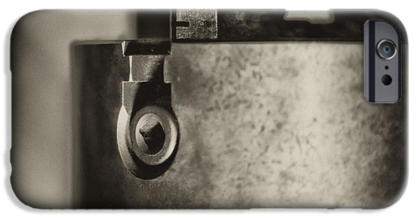 Work Tool iPhone Cases - Four Jaw Chuck iPhone Case by Wilma  Birdwell