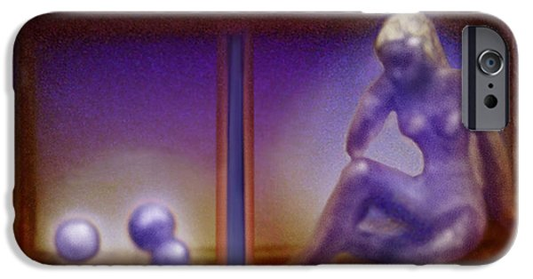 Thinking Sculptures iPhone Cases - Fragile - Handle With Great Care  iPhone Case by Hartmut Jager
