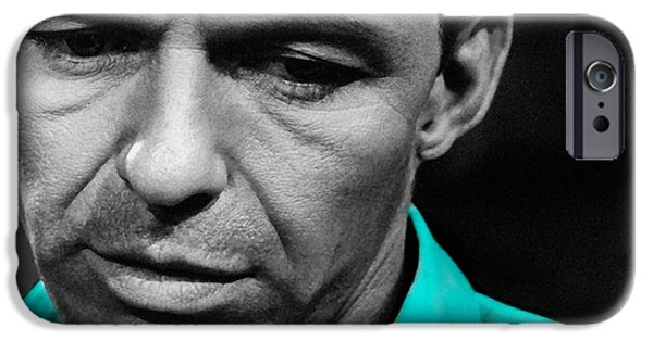 Frank Sinatra iPhone Cases - Frank Sinatra Painting iPhone Case by Marvin Blaine