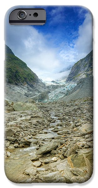 Snow Melt iPhone Cases - Franz Josef Glacier iPhone Case by Alexey Stiop