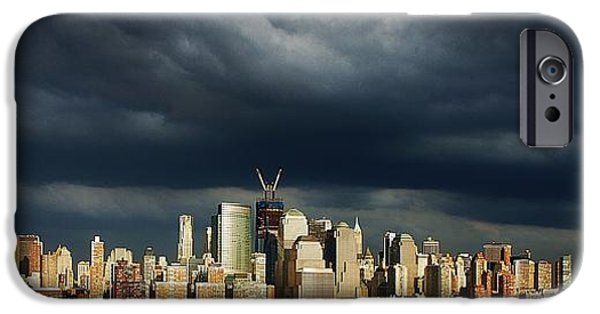 Hudson River iPhone Cases - Freedom Tower Rising iPhone Case by Lilliana Mendez