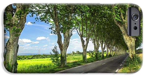 Old Country Roads Photographs iPhone Cases - French country road iPhone Case by Elena Elisseeva