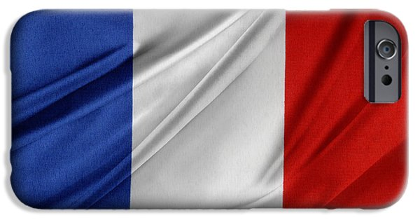 Flag Colors iPhone Cases - French flag  iPhone Case by Les Cunliffe