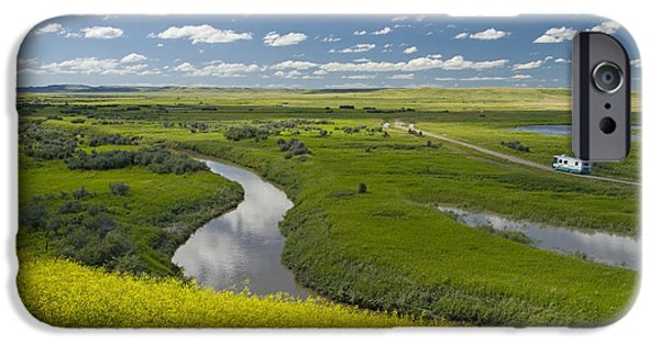 Dave iPhone Cases - Frenchman River In West Block Of iPhone Case by Dave Reede