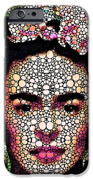 Famous Artist iPhone Cases - Frida Kahlo Art - Define Beauty iPhone Case by Sharon Cummings