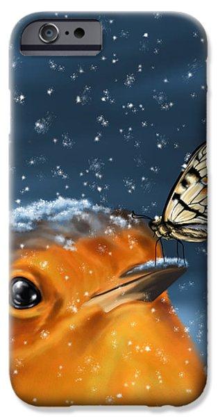 Cute Bird iPhone Cases - Friends iPhone Case by Veronica Minozzi
