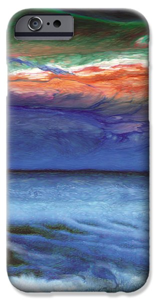 Surreal Landscape Drawings iPhone Cases - Frosty Wind iPhone Case by The Art of Marsha Charlebois