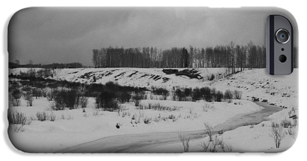 Winter Storm iPhone Cases - Frozen Creek iPhone Case by Ron Pringle