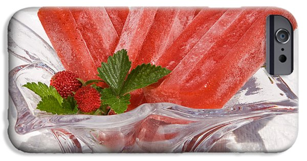 Commercial Photography iPhone Cases - Frozen Fruit Juice Popsicles iPhone Case by Iris Richardson