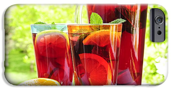 Ice Wine iPhone Cases - Fruit punch  iPhone Case by Elena Elisseeva