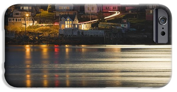 East Village iPhone Cases - Full Moon Over Kennebec River Georgetown Island Maine iPhone Case by Keith Webber Jr