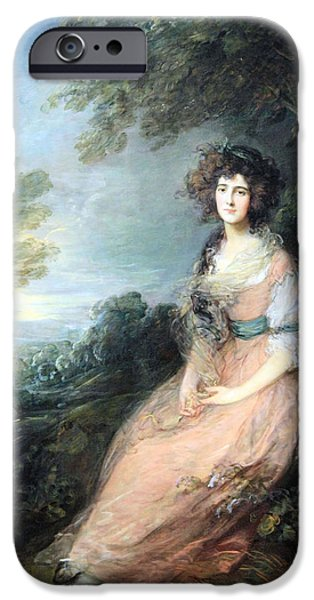 Cora Wandel iPhone Cases - Gainsboroughs Mrs. Richard Brimsley Sheridan iPhone Case by Cora Wandel
