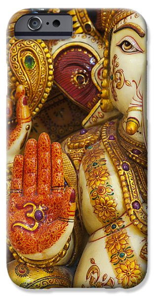 Hinduism iPhone Cases - Ornate Ganesha iPhone Case by Tim Gainey