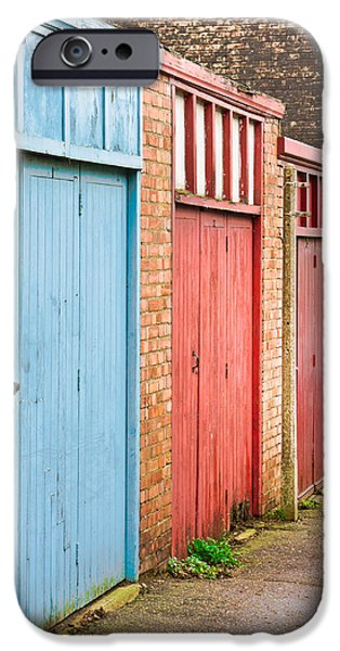 Shed iPhone Cases - Garage doors iPhone Case by Tom Gowanlock