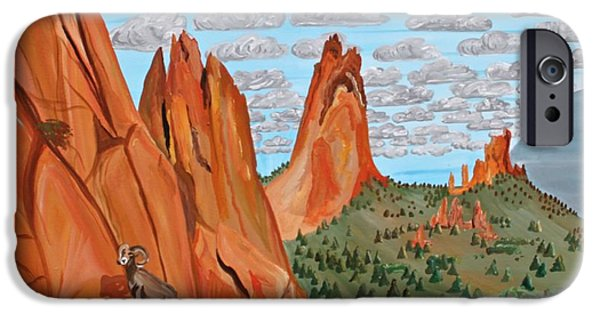 Pinion Paintings iPhone Cases - Garden of the Gods iPhone Case by Mike Nahorniak