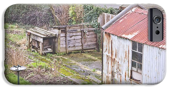 Shed iPhone Cases - Garden shed iPhone Case by Tom Gowanlock