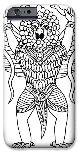 Hindu Goddess iPhone Cases - Garuda, The Vahana Of Lord Vishnu iPhone Case by Photo Researchers