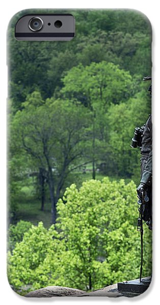 General Warren at Little Round Top iPhone Case by John Greim