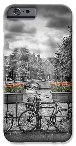 Facade iPhone Cases - Gentlemens Canal AMSTERDAM iPhone Case by Melanie Viola