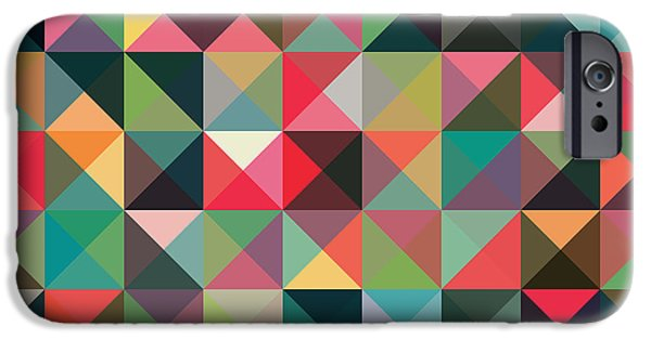 Geometric Artwork iPhone Cases - Geometric Art iPhone Case by Mike Taylor
