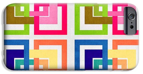Animation iPhone Cases - Geometric Colors  iPhone Case by Mark Ashkenazi
